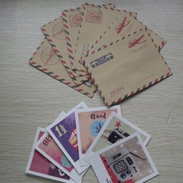 Wholesale cards and mini Kraft brown paper envelope DIY scrapbooking hobby crafts