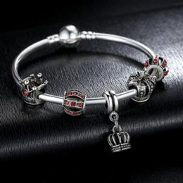 Luxury Jewelry For Sale Canada - 2016 Hot Sale Luxury 925 Silver Crown Charm Bangle DIY Jewelry for Women Fit Original Bracelets Pulseira Gift