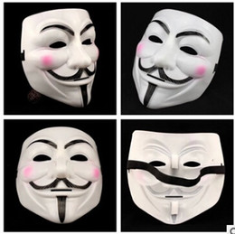 V Vendetta Cosplay Canada - New Halloween mask costume party Cosplay Halloween Party Guy Fawkes V FOR Vendetta Anonymous Adult party Mask decorations