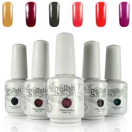 Barato Ems Unha Gel-Free DHL / TNT / EMS Shipping 15ml Gelish Polish embebe o esmalte de esmalte UV 100pcs / lot 403Fashion Colors Available
