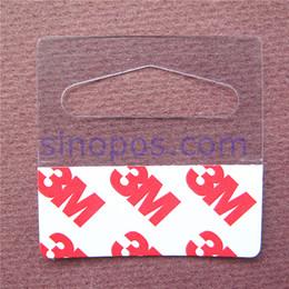 $enCountryForm.capitalKeyWord NZ - Wholesale- Bulk Hang Tabs Delta Slotted Self-adhesive, merchandise package box bag PET PVC hangers peghook, plastic display reinforced tag