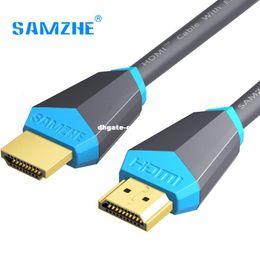 кабель dhgate HDMI 2.0 позолоченный кабель 4K * 2K 60Hz UHD HDMI 0.75/1/1.5/2/3/5/8/компьютер Репроектора компьтер-книжки PS3 10M или HD TV LCD