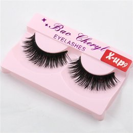 beautiful eyelashes Canada - High Quality Eyelash Black False Eyelashes Handmade Natural Long Thick Beautiful Eyes Makeup Tools Eyelash Fake Eye Lash extensions X-up9