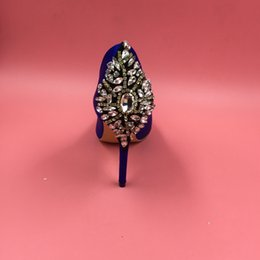 $enCountryForm.capitalKeyWord NZ - Royal Blue Real Image Wedding Shoes Crystal Rhinestone Slip On Custom Made Plus Size Cheap Hot Bridal Shoes For Bridese Accessories Sexy