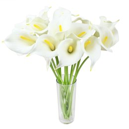 $enCountryForm.capitalKeyWord Canada - 12pcs Real Touch Decorative Artificial Flower Calla Lily Artificial Flowers for Wedding Decoration Event Party Supplies Hot Sale