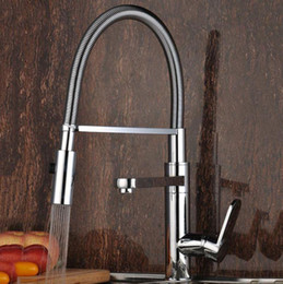 Wholesale The new rotary Chrome Kitchen mixed faucet kitchen ware sink faucet hotel project