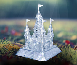 3d Castles Canada - New Arrival 3D Crystal Puzzles Blocks Flash Music Castle Educational Toys Christmas Kid's Present New Year Gift