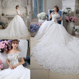 b0c7c38b306 Dazzling white weDDing Dresses online shopping - Dazzling Short Sleeve Lace Wedding  Dresses Appliques Beaded Lace