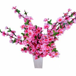 $enCountryForm.capitalKeyWord UK - Upscale Artificial Flower Peach Blossom With 4 Colors Fake Table Flower Silk Flowers Colorful for Birthday Party Home Decoration 1010 - 1002