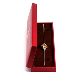 bracelet gift box packaging NZ - ORSA Jewelry Nice Jewelry Bracelet Package Gift Jewelry Boxes Package With Red Color Present Decoration