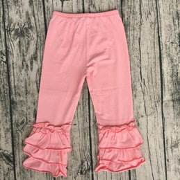 897770653f392 Wholesale Candy Color Icing Pants Icing Baby Leggings Triple Ruffle  Boutique Clothing Hot Sale Children Long Pant