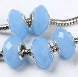 blue jade faceted beads 2019 - 50pcs Lot Blue Jade Faceted Crystal Beads for Jewelry Making Loose Charms DIY Beads for Bracelet Wholesale in Bulk Low P