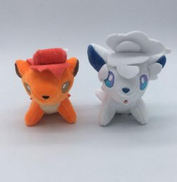 12 Inch Stuffed Animals Canada - 4.3 inch Cute Stuffed Animals Vulpix Doll for Kid's Anime Collectible Toy Plush Figures Pendant Charm Christmas Gifts Soft Stuffed Toys