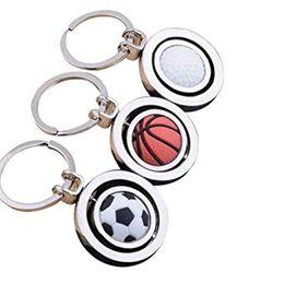 $enCountryForm.capitalKeyWord Canada - 3 Styles Cool 3D Rotary Soccer Basketball Golf Metal Pendant Key chain Originality Gift Gadget KeyChain B600Q