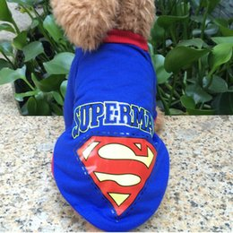 Cool Sweatshirt Jackets Canada - 2016 New Dog jacket casual cotton superman costumes for small medium puppy dogs chihuahua yorkshire cool dog vests