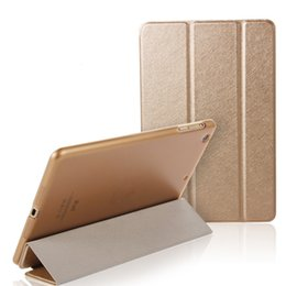 Lavender Bundles Canada - Silk Pattern Front Smart Case with Hard PC Cover Folding Holder PU Intelligent Cases Leather Magnetic Shell for iPad Mini 2 3 4