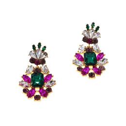 $enCountryForm.capitalKeyWord UK - New Fashion Arrival Baroque Crystal Wedding Earrings for Women Purple Color Rhinestone Long Hanging Brincos Bridal Bridesmaid Jewelry