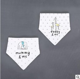 Coton Triangulaire Bande Bande Pas Cher-Baby Bandana Bibs Baby Infant Letter Burp Tissu Coton Terry Bandana Bibs Salive Serviette Triangle Head Scarf Long Absorbant Ajustable Bib