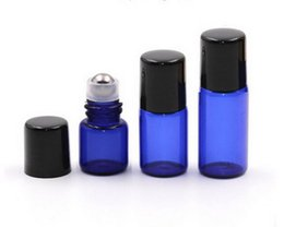 $enCountryForm.capitalKeyWord Australia - Hot 200pcs lot 1ml 2ml 3ml Mini Blue Roll On Bottles For Essential Oil Roll-on Refillable Perfume Sample Roller Glass Container