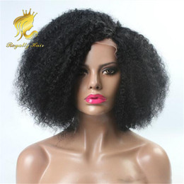 $enCountryForm.capitalKeyWord Canada - Indian Hair 250% Density Glueless Full Lace Human Hair Wigs Kinky Curl African American Glueless Lace Front Human Hair Wigs Fast Shipping