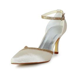 $enCountryForm.capitalKeyWord NZ - Ivory New Glitter Topline Bridal Dress Shoes Wedding Shoes Bridemaid Shoes Flower Girl Shoes Wedding Dress Shoes Size from 35--41