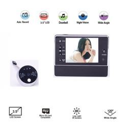 $enCountryForm.capitalKeyWord NZ - 3.5inch digital peephole camera 3X Zoom IR nightvision 32Rings support Video+Photo Multi-language digital door peephole
