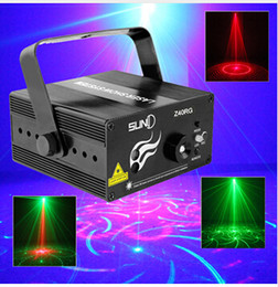 laser stage lens NZ - Suny RG 3 Lens 40 Patterns Mixing Laser Projector Stage Lighting Effect Blue LED Stage Lights Show Disco DJ Party Lighting
