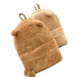Chinese  Women Backpack Schoolbag Teenage Backpacks For Girls Cute Fur Korean Female Laptop Notebook School Large Bags Women Backpacks manufacturers