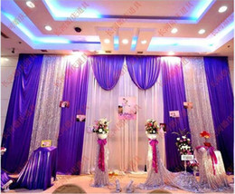 Wedding decoration draping fabric nz buy new wedding decoration 3m6m ice silk wedding backdrop curtains fabric satin drape curtain with beads sequins cloth wedding party decoration supplies dhl shipping junglespirit Image collections