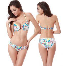 7eba366c66fe7 Cheap Bikinis UK Sale Allover Print Underwired Modest Swimwear Cup Back  Closured 2016 Hot Wholesale Bikinis Girls Female Swimsuits Coverups