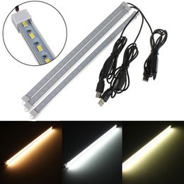 Discount emergency led flashlight lamp - 5V USB led Light Strip Lamp SMD 5630 24leds LED Hard Rigid Strip Light Tube with Switch for Phone Charger PC Tablets