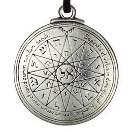 Chinese  New Punk Amulet pendant Pentacle of Mercury Talisman Key of Solomon Seal Pendant Hermetic Enochian Kabbalah Pagan Wiccan Jewelry manufacturers