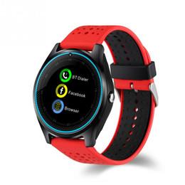 $enCountryForm.capitalKeyWord Canada - V9 Smart Watch Sim Card Camera Sport Bracelet MP3 Clock FOR Android IOS Mobile