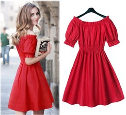 $enCountryForm.capitalKeyWord Canada - 2016 Chun Xia Is Installed On The New Word Brought Off-The-Shoulder Accept Waist Dress That Wipe A Bosom Big Size S-XL Women Dre