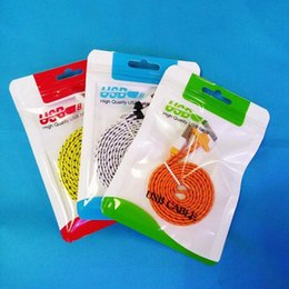 hanging cell phone cases 2019 - Zipper Plastic Retail Package Bag Hang Hole Poly Packaging for USB Cable OPP Packing Bags for Cell Phone Case Wall Charg