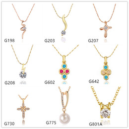 $enCountryForm.capitalKeyWord Canada - Pearl cross 18k yellow gold necklace(with chain) EMMG11,fashion women's crystal gemstone gold pendant necklace 10 pieces a lot mixed style