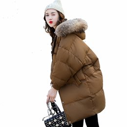 Barato Parkas Inverno Europeu-Trench Coats feminino jaqueta de inverno European Cocoon Style Winter parka women Moda Loose Down Jacket Thick Winter Warm Coats