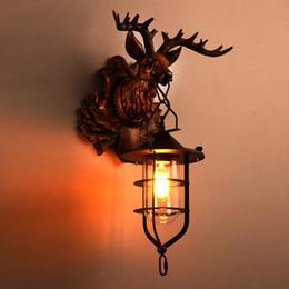 Home Decor Buck Wall L& Antique Art Creative Brief Loft Antler Sconce Office Bar Wall Light Light Fitting & Antler Wall Lights Online | Antler Wall Lights for Sale azcodes.com