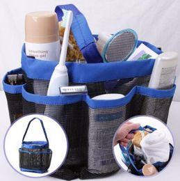 4 Colors 8 Pocket Shower Caddy Oxford Bathroom Hanging Storage Bag Home  Makeup Organizer Holder Hosekeeping Accessories CCA7720 100pcs