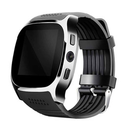 Wholesale 2017 T8 Sport Bluetooth Smart Watch Wearable Devices With Camera Sync Call Support SIM TF Men Women Wristwatch For Android Phone