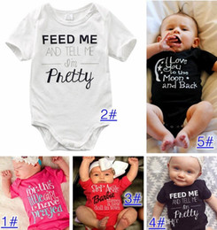 $enCountryForm.capitalKeyWord Australia - Baby Rompers Suit Summer Infant Triangle Romper Onesies 100% cotton Short sleeved babies clothes boy girl pink white full sizes in stock