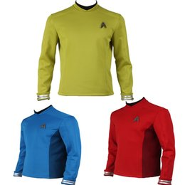 Star Trek Movie Costumes Canada - New Version Star Trek Lost In Space Kirk Tunic Spock Cosplay Costume Science Officer Uniform Shirt Three Color