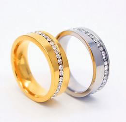 Heart Steel Bar Canada - New Women Charm 316L Stainless Steel Couple Rings For Ladies Men Austrian Crystal Rings Femme Jewelry
