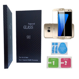 Discount lcd samsung edge - For Samsung Galaxy S6 S7 Edge Plus Curved Tempered Glass Full Front Color LCD 3D 9H HD Premium Screen Protector Curve cy