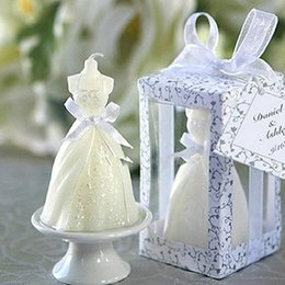 Wholesale Novelty Household Party Holiday Gift Favors Candle Wedding Gifts Wedding Dress Style Candle For Wedding Favors 1167