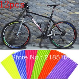$enCountryForm.capitalKeyWord Canada - 12 x Reflective Sticker Warning Sticker Decal for Bicycle Rims Special offer - Color Assorted order<$18no track