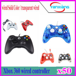 Xbox Pc Controllers Canada - 50pcs New Black White USB Wired Gamepad Controller For MICROSOFT Xbox 360 & Slim PC