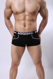 Wholesale guys boxers for sale - Group buy AOQIANG19 Mens Lingerie Guys Cotton Boxer Shorts Print Pattern Underwear Store Comfortable Cotton Panties Mix Order