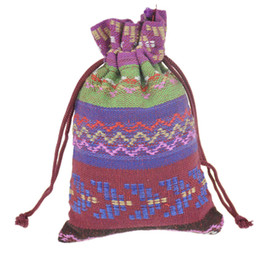 $enCountryForm.capitalKeyWord Canada - 10x14cm Custom Small Drawstring Jewelry Bags Cotton Gift package Pouches Multicolor Handmade Ethnic Tribal Tribe style 3.9''x5.5'' 100pcs