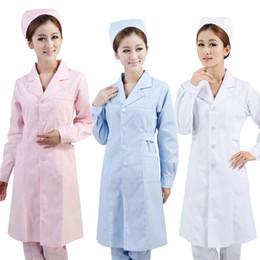 f9a27ea45b6 Work Uniform White Canada - Nurse long-sleeved white uniform Suits brought  the nurse Female